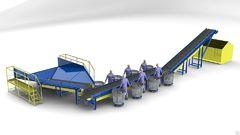 Конвейер для сортировки мусора  от производителя