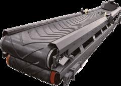 Горизонтальный ленточный транспортер для зерна