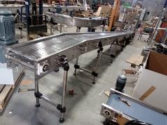 Пластинчатый транспортёр ПЛ для металлических заготовок