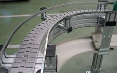 Конвейер пластинчатый одноручьевой поворотный