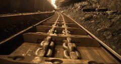 Скребковый конвейер в шахте
